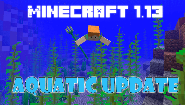 Minecraft 1.13 Aquatic Update logo