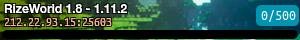 RizeWorld 1.8 - 1.11.2