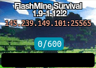 FlashMine Survival 1.9-1.12.2