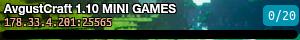 AvgustCraft 1.10 MINI GAMES