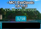 - MC1 EvaClassic 1.8-1.10